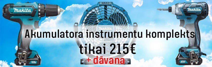 Akumulatora instrumentu komplekts MAKITA CLX201SAJ ar piederumu