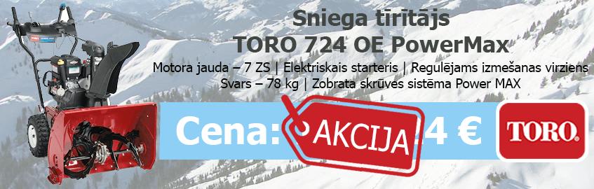 Sniega tīrītājs TORO 724 OE PowerMax